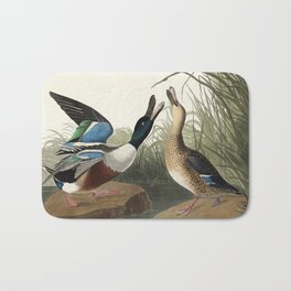 Shoveller Duck from Birds of America (1827) by John James Audubon etched by William Home Lizars Bath Mat