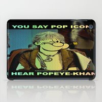 popeye iPad Cases featuring POP ICON / POPEYE-KHAN 025 by Lazy Bones Studios