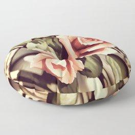Vintage Rose Garden - Painterly Floor Pillow