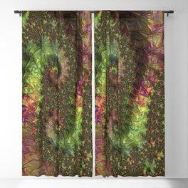 Fractal Spirals Blackout Curtain
