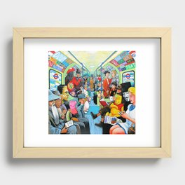 On the tube Recessed Framed Print