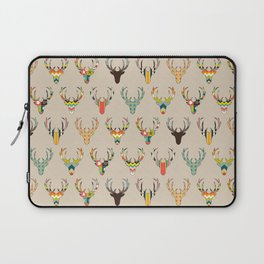 retro deer head on linen Laptop Sleeve