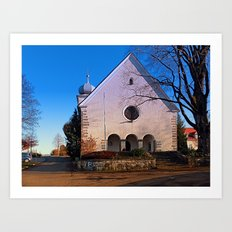 The village church of Klaffer I | architectural photography Art Print