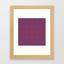 Mini Black and Pink Cowboy Buffalo Check Framed Art Print