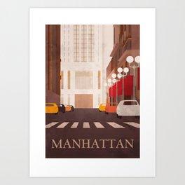 New York Manhattan watercolor Art Print