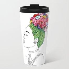 Flowered Hair Girl 3 Travel Mug