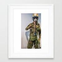 pilot Framed Art Prints featuring Pilot by sannngat