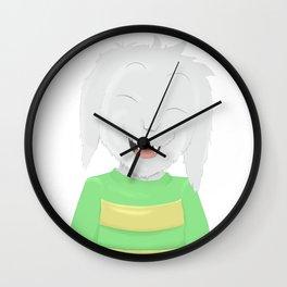 Asriel's happiness Wall Clock