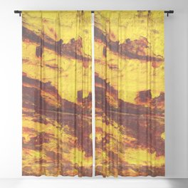 Bulldozer Impacted Sheer Curtain