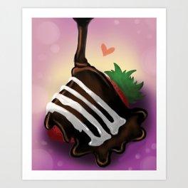 Strawberry Chocolate Art Print