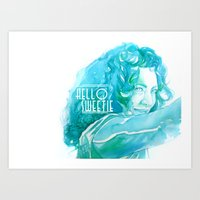 river song Art Prints featuring River Song by Erin Garey