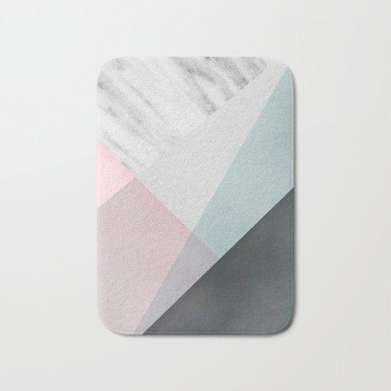 Scandinavian Mood Geometry Bath Mat