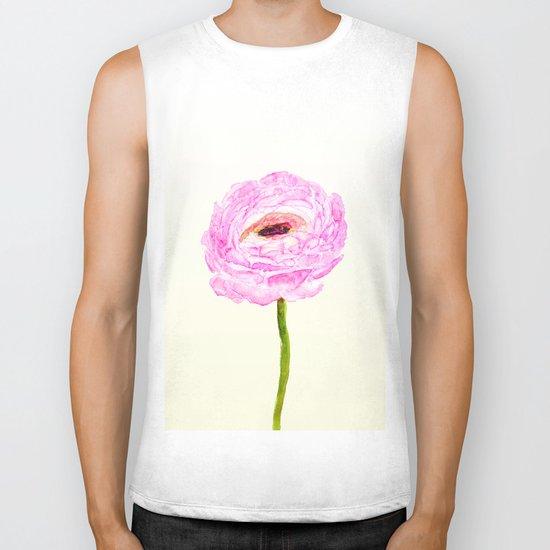 pink cultivited buttercup, Ranunculus Biker Tank
