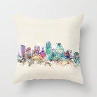 austin Throw Pillows featuring austin texas  by bri.buckley