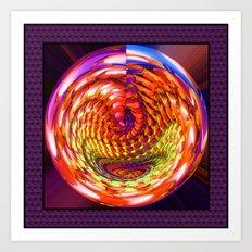 Framed glass spiral Art Print