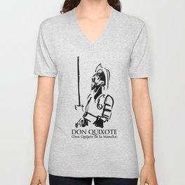 Don Quixote (Don Quijote de la Mancha) Unisex V-Neck