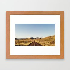 Golden Rolling Hills Road Framed Art Print