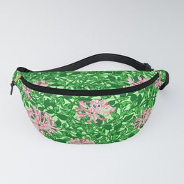 William Morris Honeysuckle, Pink and Emerald Green Fanny Pack