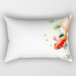 Goldfish, aquarium fish art, design watercolor fish painting Rectangular Pillow
