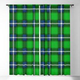 Scottish Tartan Blue and Green Blackout Curtain