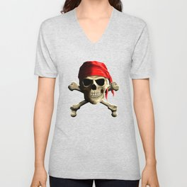 The Jolly Roger Unisex V-Neck