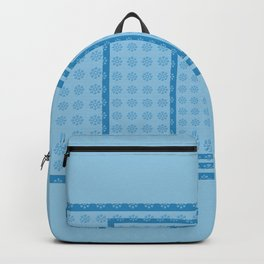 Blue Blocks big to Small Backpack