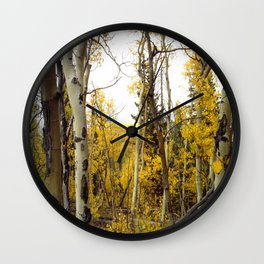 An Aspen Groves View Wall Clock