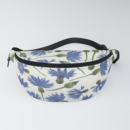 Vintage Pressed Flowers - Blue Cornflower Fanny Pack