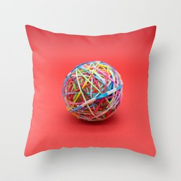 ball made with elastics Throw Pillow