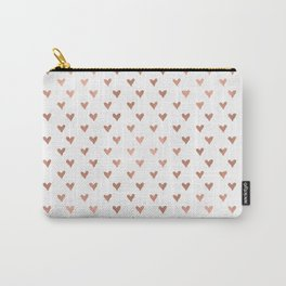 rose gold hearts Carry-All Pouch