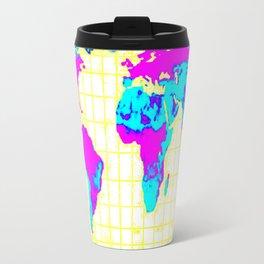 World Map: Gall Peters Colorful Travel Mug