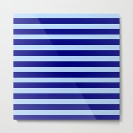 marinière mariniere  Dark blue and light blue Metal Print