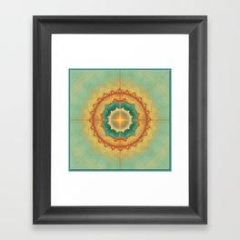 Happyness - Mandala Framed Art Print