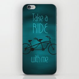 Take a Ride With Me iPhone Skin
