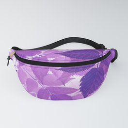 Ultra Violet Purple Leaves Fanny Pack