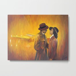 Casablanca film poster - The End Metal Print