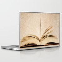 kindle Laptop & iPad Skins featuring Silent Reading II by Rose Etiennette