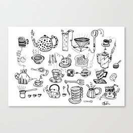 All of the Cups of Tea and Things in My Head Canvas Print