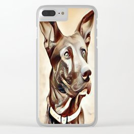 A Belgian Malinois Clear iPhone Case