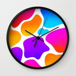 Abstract Rainbow Colourful Blob Pattern Wall Clock