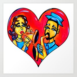 A Musical Love Art Print