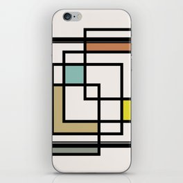 Mid Century Modern Squares iPhone Skin