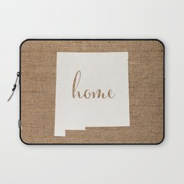 New Mexico is Home - White on Burlap Laptop Sleeve