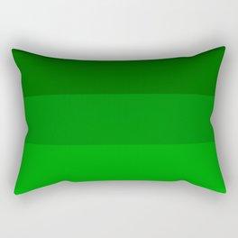 Irish Kelly Green Ombre Stripes Rectangular Pillow