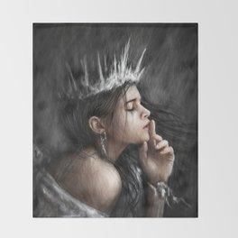 Queen of Secrets Throw Blanket