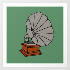 Grammophone Art Print