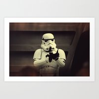storm trooper Art Prints featuring Storm Trooper by WTChuck