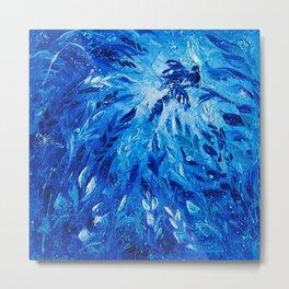Ocean Blue Phoenix Metal Print