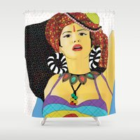 swag Shower Curtains featuring Tribal Swag by LIGHTNING9
