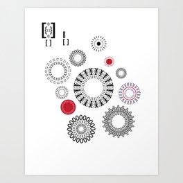 Type Patten - Rotate Art Print